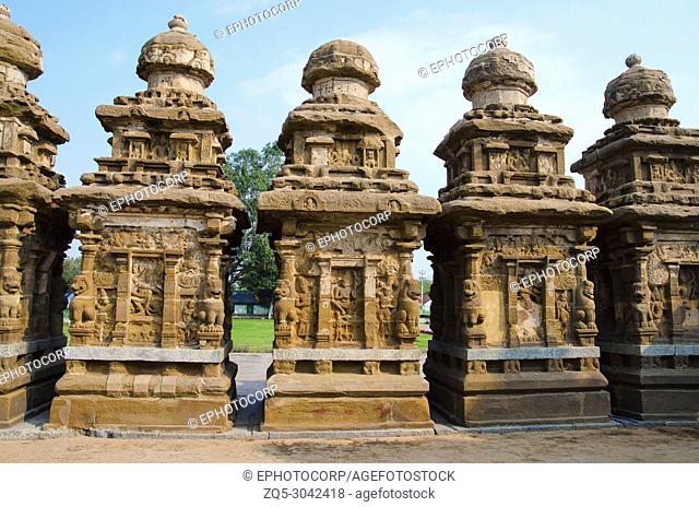 The kanchi Kailasanathar temple, Kanchipuram, Tamil Nadu, India. Oldest Hindu Shiva temple in the Dravidian architectural style