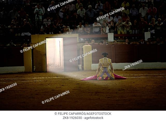 David Valiente waiting for you in portagayola the day of your alternative as a bullfighter, Andœjar, Spain