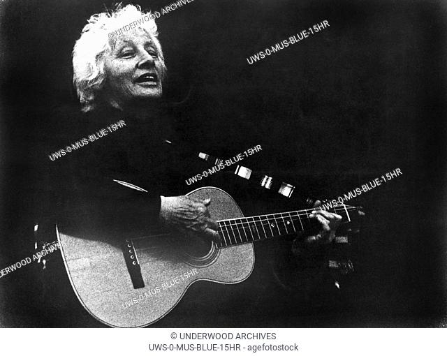 "California: 1977 Folk singer, activist and songwriter Malvina Reynolds as she appears in the film, """"Love It Like A Fool"""""