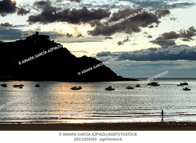 Concha bay, Donostia - San Sebastian, Basque Country, Spain