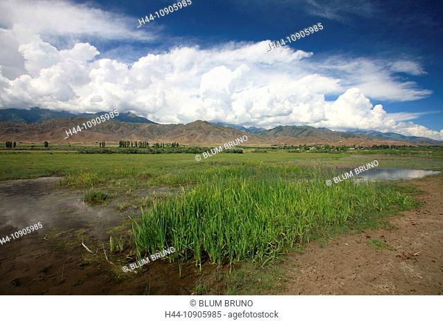 Issykkul, Kyrgyzstan, Central Asia, Terskej Alatau, Tianshan, lake, Karakol, Isskköl, silk road, mountains, clouds, weather, Sowjet union