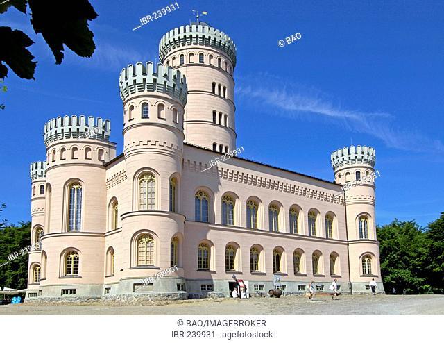 Granitz castle, hunting seat, Prince of Putbus, Ruegen, Mecklenburg-Western Pomerania, Germany