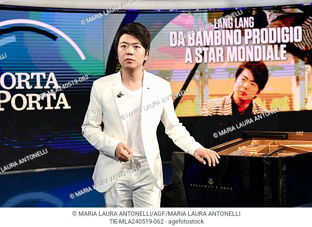The pianist Lang Lang during the tv show Porta a porta, Rome, ITALY-23-05-2019