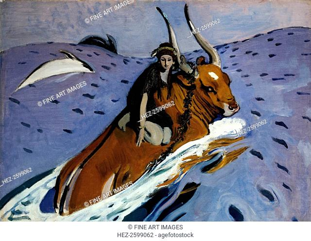 The Rape of Europa, 1910. Found in the collection of the State Tretyakov Gallery, Moscow