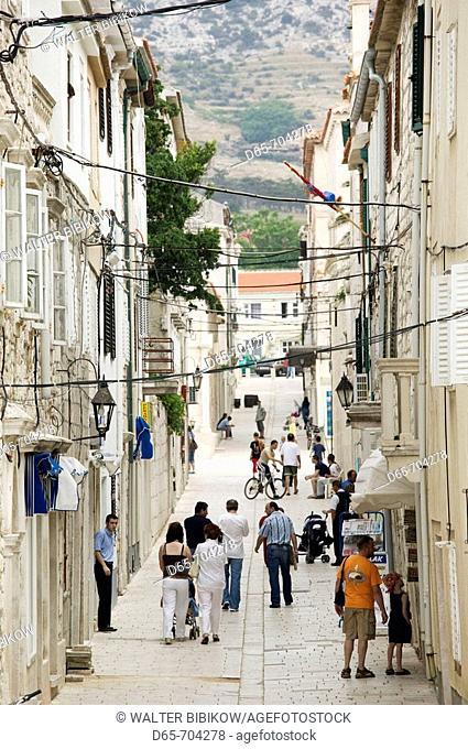 Croacia, Zadar region , Pag island, Pag town