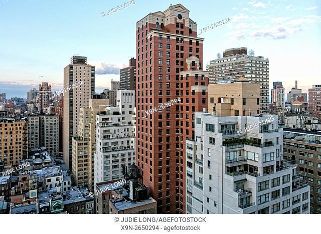 Setting Sun over the Upper East Side of Manhattan, New York City