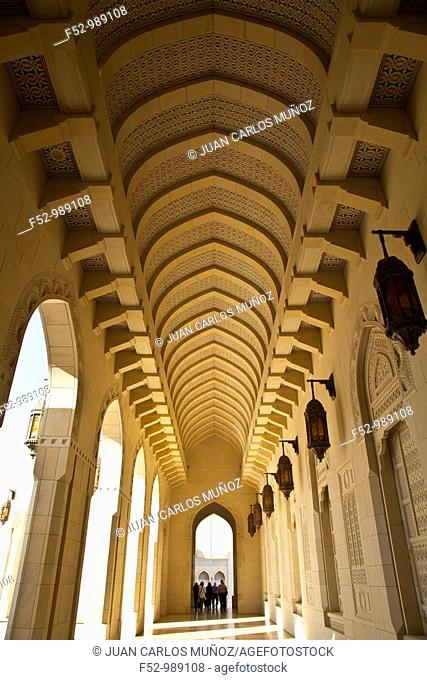 Sultan Qaboos Grand Mosque. Muscat. Oman. Persian Gulf. Arabia, Middle East