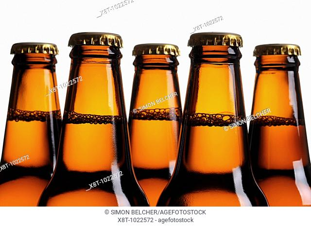 Beer Bottles, Close Up
