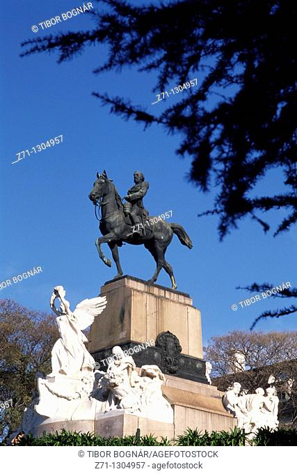 Argentina, Buenos Aires, Avenida Libertador, monument, statue
