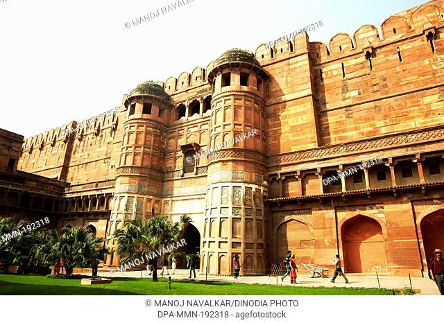 Agra Fort Uttar Pradesh India Asia