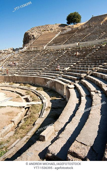 Stadium seating in the Grand Theatre - the Amphitheatre of Ephesus - ancient city near Selcuk Turkey