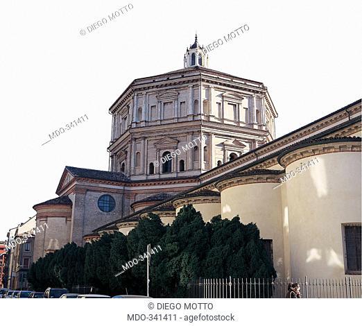Church of Santa Maria della Passione, Milan, by Battagio Giovanni, Bassi Martino, Lombardo Cristoforo, 15th Century, . Italy; Lombardy; Milan; Santa Maria della...