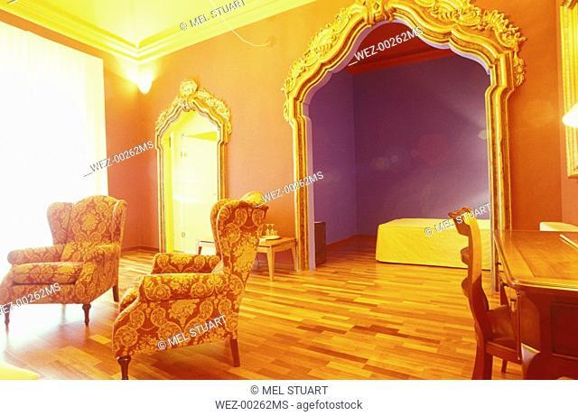 Interior of hotel room
