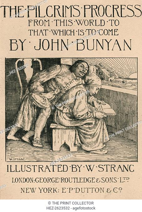 'Bunyan's Wife Reading the Bible to Him', c1916. An English nonconformist preacher and writer, Bunyan (1628-1688) was the author of the famous allegory The...