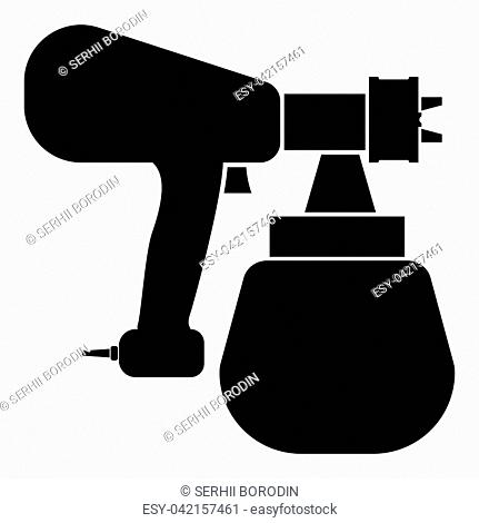 Sprayer paint icon black color vector illustration flat style simple image