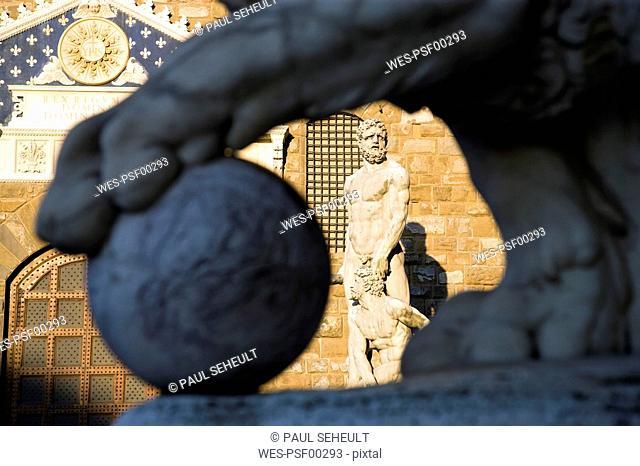 Italy, Tuscany, Florence, Palazzo Vecchio, Statue of Hercules
