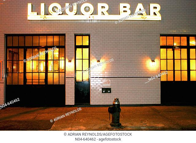 Schiller's Liquor Bar. New York city. USA
