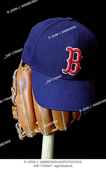 Wait till next year  Boston Red Sox baseball cap on a glove and bat