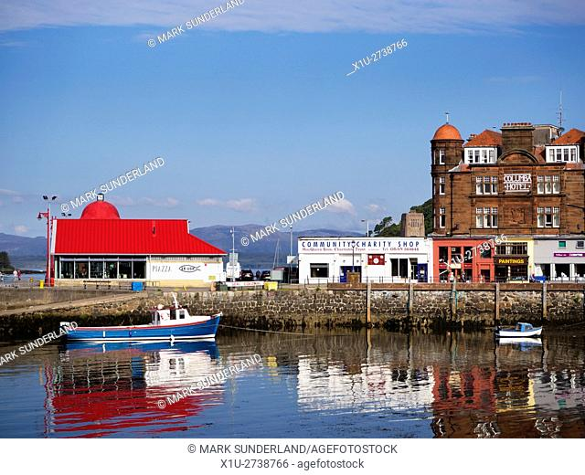North Pier and Columba Hotel at Oban Argyll and Bute Scotland
