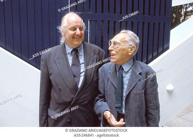 Architects Achille Castiglioni and Hans Hollein