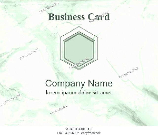 Business card background. Marble textured details. Blue color