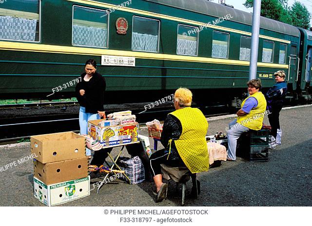 Trans-Siberian Railroad. Tyumen, Tyumen oblast, Siberia, Russia