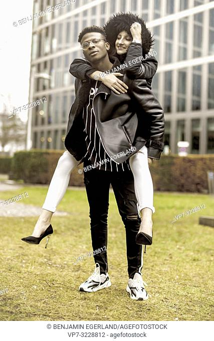 couple in city, youth, in Munich, Germany