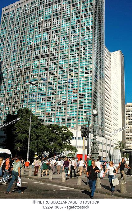 Rio de Janeiro (Brazil): skyscrapers in the Largo da Carioca