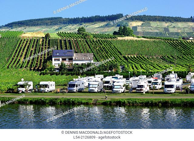 Campground Mosel River Valley Germany Europe Vineyards Wineries Cruise DE Bernkastel