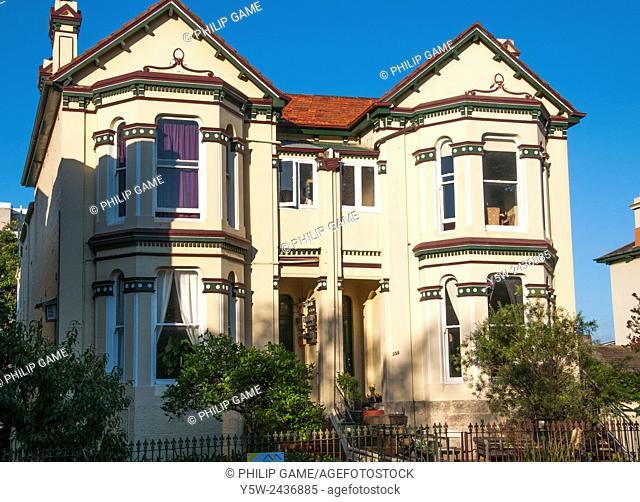Victorian-era duplex house in inner-city Glebe, Sydney, Australia