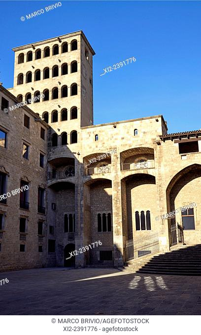Plaça del Rei meaning 'King's Square' is a 14th-century medieval public square in the Barri Gotic of Barcelona. The square is surrounded by the Palau Reial...