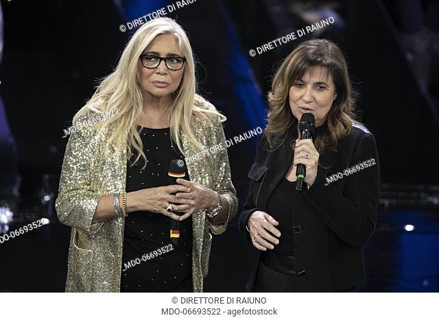 Mara Venier, Direttore di raiuno during the episode of Domenica In dedicated to 69th Sanremo Music Festival. Sanremo (Italy), February 10th, 2019
