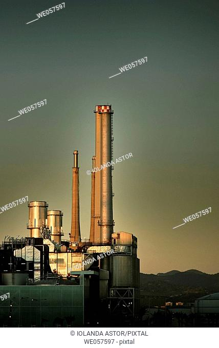 Waste water treatment plant in Barcelona. Catalonia. Spain