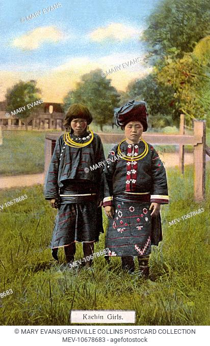 Two ethnic Kachin Girls from the Northern Kachin State in Myanmar (formerly Burma)