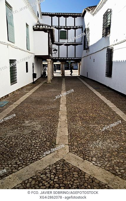 Rincón junto a la Plaza Mayor, en el que se sitúa el Museo Del Encaje – Almagro – Ciudad Real – Castilla La Mancha – España - Europa