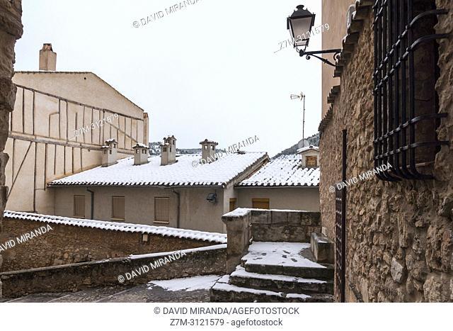 Tejados nevados. Cuenca. Castilla la Mancha, Spain
