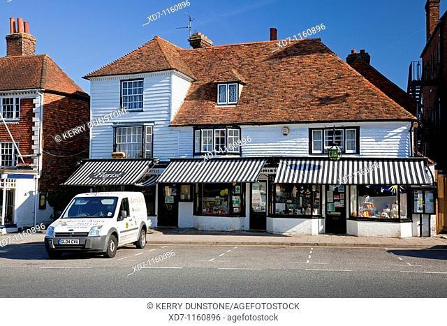England Kent Tenterden High Street with Chemist's Shop and Florist