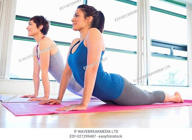 Women doing an exercise in a hall