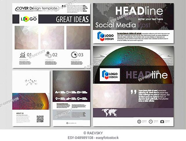 Social media posts set. Business templates. Easy editable abstract flat design template, vector layouts in popular formats