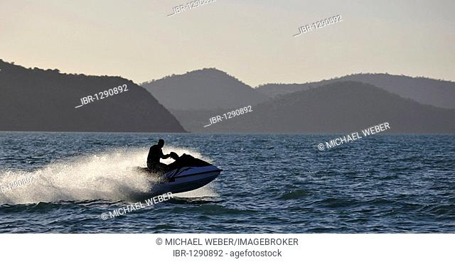 Jet-skiing, jet boat, personal water craft, Whitsunday Islands National Park, Queensland, Australia