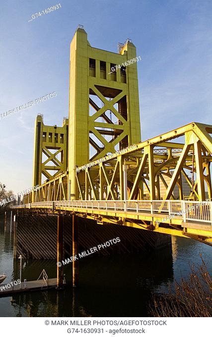 Tower Bridge Historic Old Sacramento California USA