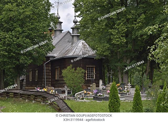 the Greek Catholic church of St. Paraskevia in the village of Nowica, commune of Uscie Gorlickie, Gorlice county, Malopolska Province (Lesser Poland), Poland
