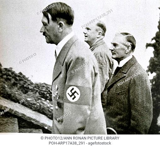 Photographic print of Adolf Hitler (1889-1945) a German politician who was the leader of the Nazi Party, Chancellor of Germany, and Führer of Nazi Germany