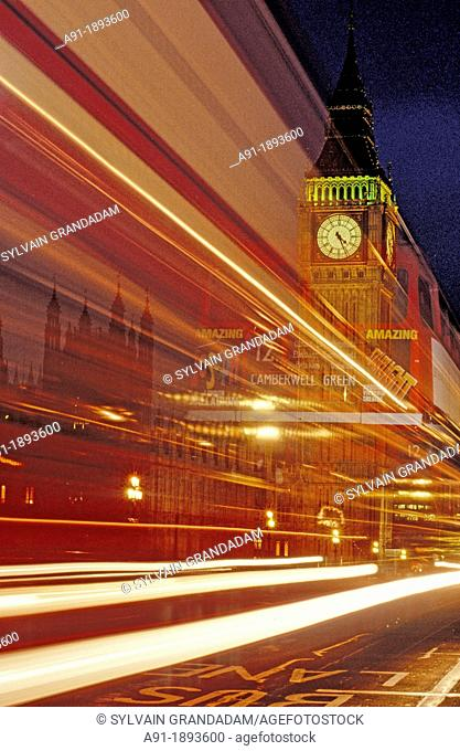 Big Ben at night, London, England, UK