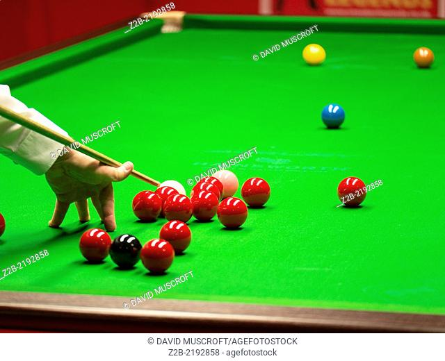 Snooker table and balls