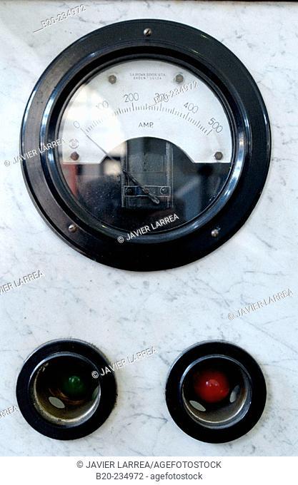 Detail of dial at museum of railway history. Azpeitia. Guipúzcoa, Euskadi. Spain