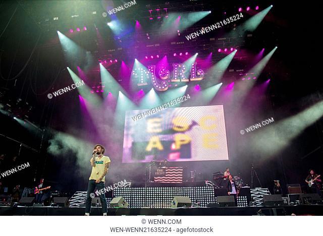 Leeds Festival 2014 at Bramham Park - Day 1 - Performances Featuring: Macklemore & Ryan Lewis Where: Leeds, United Kingdom When: 22 Aug 2014 Credit: WENN