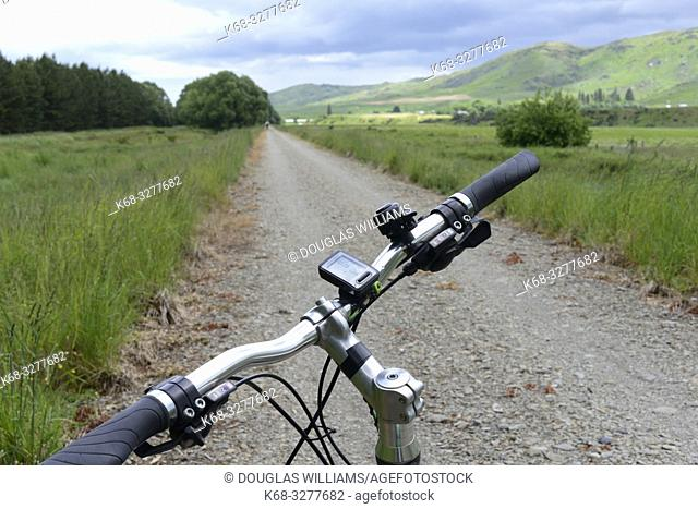 A bicycle on the Central Otago Rail Trail, South Island, New Zealand