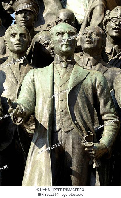 Mustafa Kemal Atatuerk with comrades, Monument of the Republic by Pietro Canonica, Taksim Square or Taksim Meydan?