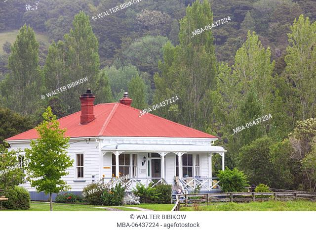 New Zealand, North Island, Puhoi, former Bohemian village, cottage